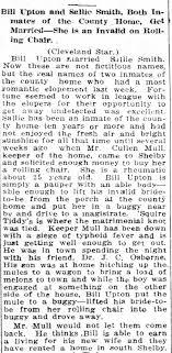 Bill (William) Upton marries Sallie Smith - Newspapers.com