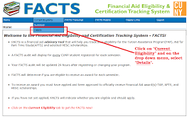 Financial Tracking Financial Aid Certification Tracking System The City
