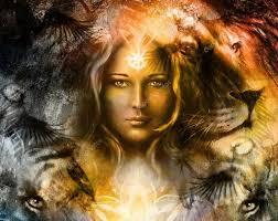 девушка с головой тигра могучий лев живописи и голова тигра и