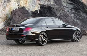 Unlike the previous generation, this generation coupe/convertible share the same platform as the sedan/wagon. Mercedes Amg Muscles Up 2017 E Class With E43 Sedan Driving