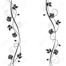 黒と白のスタイルでシンプルな花の背景