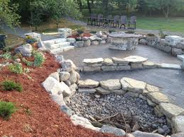 stamped concrete patio with fireplace. Stamped Concrete Patio With Fire Pit Fresh Crushed Gravel Firepit And Boulders Would Not Fireplace