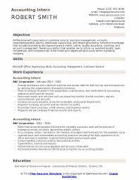 Resume Template For Internship Accounting Intern Resume Samples Qwikresume