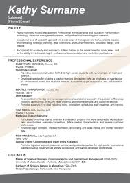 Examples Of Successful Resumes Resume For Study