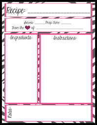 recipes cover page template.  Cover Full Page Recipe Templates Free Printables With Recipes Cover Template I