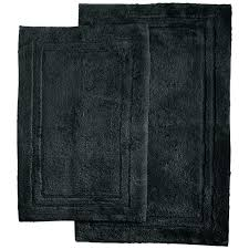 black bath rugs black bathroom rug runner superior collection bath set cotton 2 piece 3 black black bath rugs