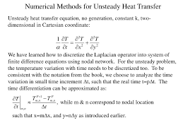 numerical methods for unsteady heat transfer n