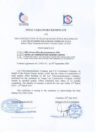 Testimonials Gaupa Lao Construction Company