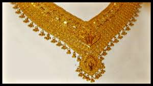 Gold Long Necklace Designs In 35 Grams Gold Necklace Set In 20 Grams
