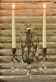 heavenly antique french two arm candle