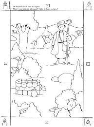 Kleurplaten Paradijs Kleurplaat Zoek De Tien Schapen Van De Herder