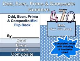 Prime And Odd Numbers Chart Even Odd Prime Composite Mini Flip Book