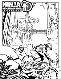 Printable ninja coloring pages are a fun way for kids of all ages to develop creativity, focus, motor skills and color recognition. Ninja Coloring Pages Ninja Mountain Bike Performance