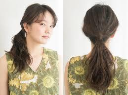 ひとつ結びを格上げゴムの結び目を髪の毛で隠す方法 ヘアアレンジ