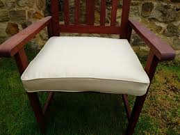 uk gardens cream beige deep large square garden furniture chair cushion seat pad for garden armchair co uk garden outdoors