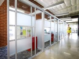 Glass Office Wall Commercial Sliding Door Showrooms Glass Office Wall E