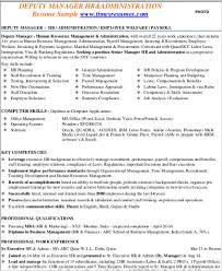 Admin Manager Cv Sample Sample Hr Manager Resume 9 Examples In Word Pdf