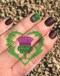 Ashley is PolishAddicted: Scottish Thistle Nail Art