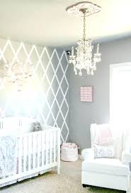 chandeliers chandelier for baby room beautiful gray and pink nursery features our lighting best crystal