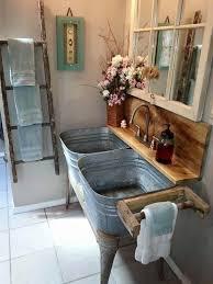 16 galvanized metal tub double vanity