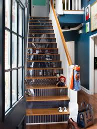 How To Step Up Your Stair Risers With Wallpaper HGTV