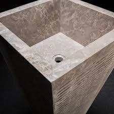 Marble pedestal sink Polished Carrara Custom Square Tapered Marble Pedestal Sink Indiamart Custom Square Tapered Marble Pedestal Sink Decora Loft