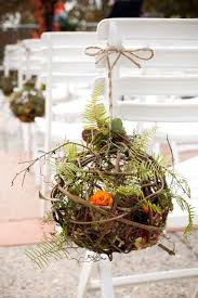 Moss Balls Wedding Decor Adorable Vine And Moss Ball Decor Weddingdecor Ceremony Weddingaisle