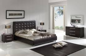 Leather Bedroom Suite Mocha And White Bedroom