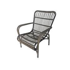 mimosa waiheke aluminium and wicker sun chair