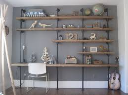 industrial shelving unit plus diy design styles also pipe shelving unit and storage desk function and white chair furniture and wooden slate shelf