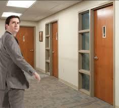 Office Door With Window Office Overhaul Painting Black Windows And
