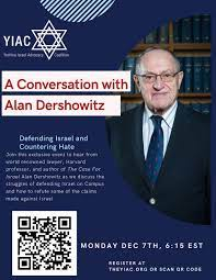 AJA Israel Advocacy Club Takes Part in Event Featuring Prof. Alan  Dershowitz – AJA Palette