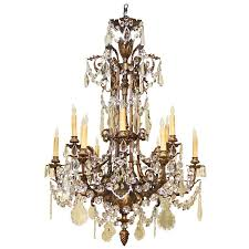 napoleon iii style bronze and crystal chandelier pertaining to with crystals design 8