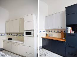 painting laminate kitchen cabinets before and after. Beautiful Cabinets Kitchen Makeover  Farrow U0026 Ball Railing  Little House On The Corner Throughout Painting Laminate Cabinets Before And After K