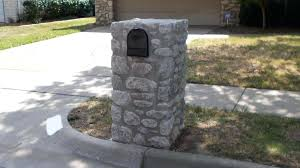 stone mailbox designs. Stone Mailbox Mud Cap Style Building Brick Designs