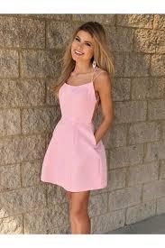 Light Pink Short Tight Dress Short Backless Formal Graduation Homecoming Dresses In 2019
