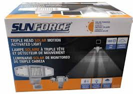 Details About Sunforce Solar Triple Head Motion Activated Security Light 1500 Lumens