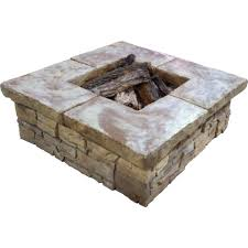 Stacked Stone Fire Pit stonebilt concepts telluride 44 in square stacked stone fire pit 4809 by uwakikaiketsu.us