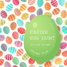 easter egg hunt template easter egg hunt poster template stock vector illustration of