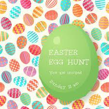 Easter Egg Hunt Poster Template Stock Vector Illustration Of