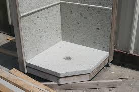 precast terrazzo shower base best bathroom toilet ideas precast shower base