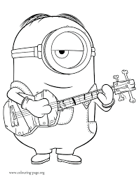 coloring page of minions kids drawing and coloring pages disney coloring pages minions minions playing guitar