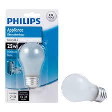 philips 25 watt a15 frost appliance incandescent light bulb