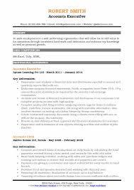 Accounts Executive Resume Samples | Qwikresume