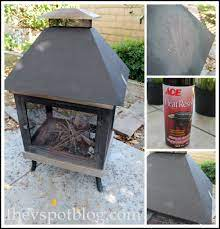 Freshen Up A Fire Pit With High Heat Spray Paint The V Spot