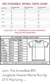 The Incredible Apparel Sizing Chart Chest Measurement Waist
