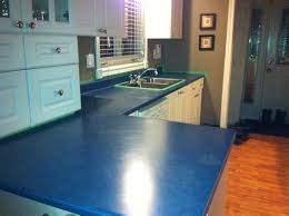 image of laminate kitchen countertops blue