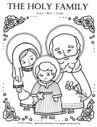 Holy Family Coloring Page Immaculate Heart Pages The Ac Elegant I