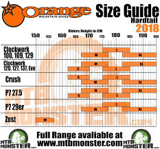 Orange Bikes Size Guide What Size Frame Do I Need
