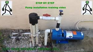 how to install a lawn sprinkler pump